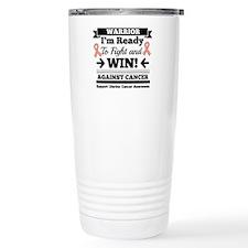 Uterine Cancer Warrior Stainless Steel Travel Mug