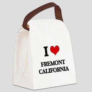 I love Fremont California Canvas Lunch Bag