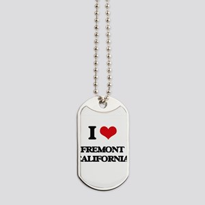 I love Fremont California Dog Tags