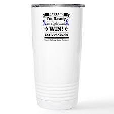 Testicular Cancer Warri Stainless Steel Travel Mug