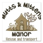MMM Logo Square Car Magnet 3