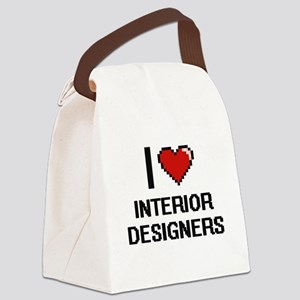 I love Interior Designers Canvas Lunch Bag