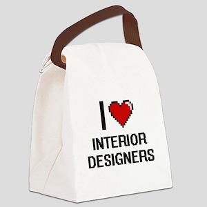 I love Interior Designers Canvas Lunch Bag
