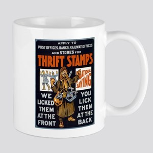 THRIFT STAMPS coffee cup