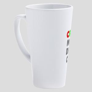 CRAYON,MORON,DIMWIT,CinC, PRESIDEN 17 oz Latte Mug