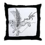 Miss Sphinx Throw Pillow