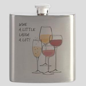 Wine a little Laugh a Lot! Flask