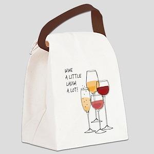Wine a little Laugh a Lot! Canvas Lunch Bag