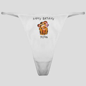 Happy Birthday Tristen (tiger Classic Thong