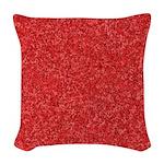 Martian Red Woven Throw Pillow