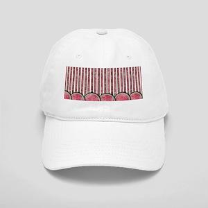 Watermelon Mania - row border stripes Cap