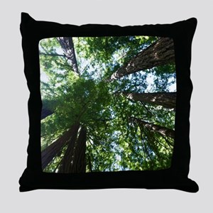 up into treetops Throw Pillow