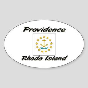 Providence Rhode Island Oval Sticker