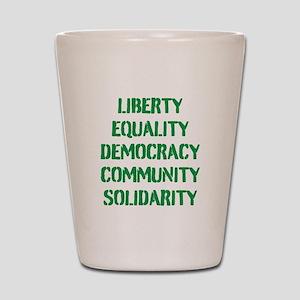 liberty equality (green) Shot Glass