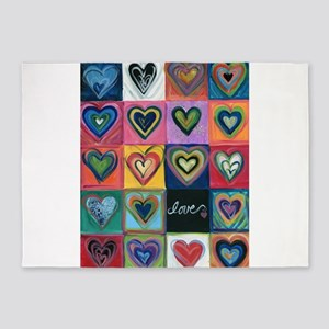 Love Hearts Love 5'x7'Area Rug