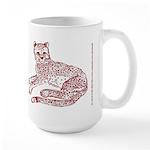 Cheetah Cub Red Sepia Large Mug