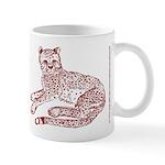 Cheetah Cub Red Sepia Mug
