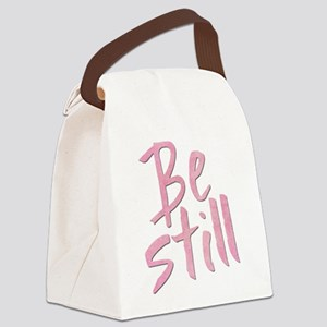 Be Still (pink grunge) Canvas Lunch Bag