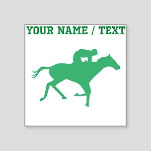 Green Horse Racing Silhouette (Custom) Sticker