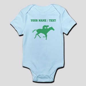 Green Horse Racing Silhouette (Custom) Body Suit