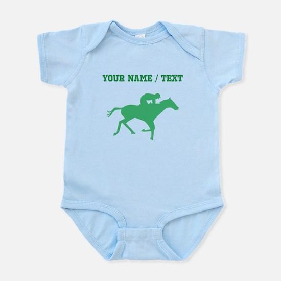 Green Horse Racing Silhouette (Custom) Body Suit