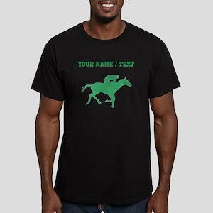 Green Horse Racing Silhouette (Custom) T-Shirt
