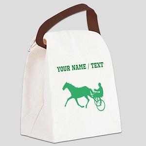 Green Harness Racing (Custom) Canvas Lunch Bag