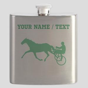 Green Harness Racing (Custom) Flask
