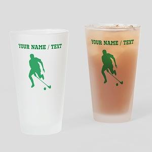 Green Field Hockey Player Silhouette (Custom) Drin