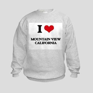 I love Mountain View California Kids Sweatshirt
