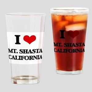 I love Mt. Shasta California Drinking Glass