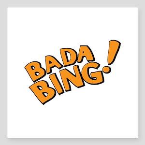 "The Sopranos: Badda Bing Square Car Magnet 3"" x 3"""