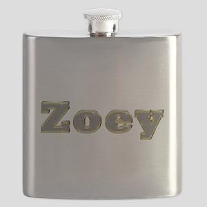 Zoey Gold Diamond Bling Flask