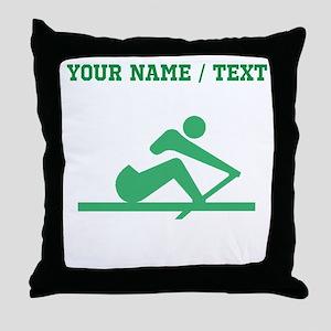 Green Crew (Custom) Throw Pillow