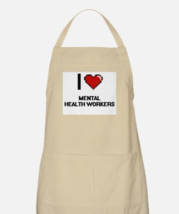 I love Mental Health Workers Apron