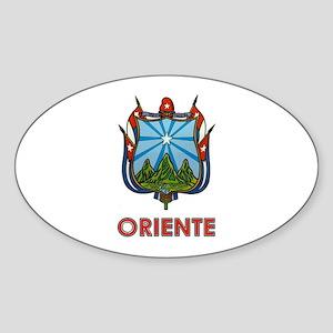 Escudo de Oriente Oval Sticker