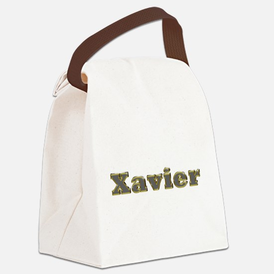 Xavier Gold Diamond Bling Canvas Lunch Bag