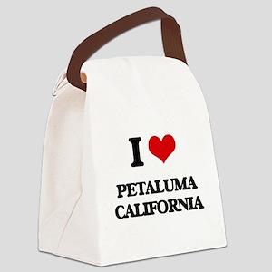 I love Petaluma California Canvas Lunch Bag
