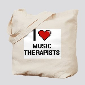 I love Music Therapists Tote Bag