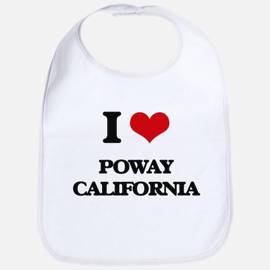 I love Poway California Bib