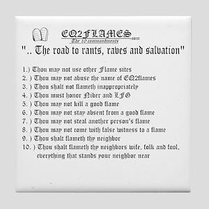 Kviller's 10 Commandments Tile Coaster