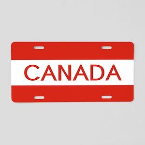 Canada (White Stripe) Aluminum License Plate