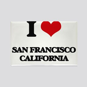 I love San Francisco California Magnets