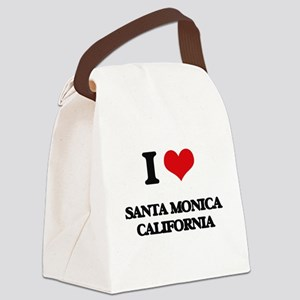 I love Santa Monica California Canvas Lunch Bag
