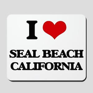 I love Seal Beach California Mousepad