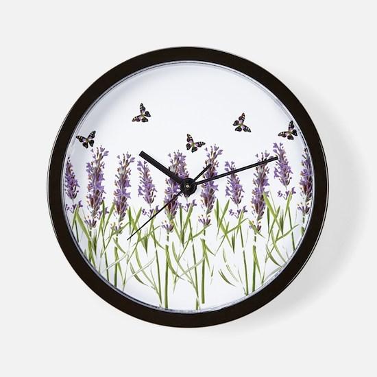 Cute Lavender Wall Clock