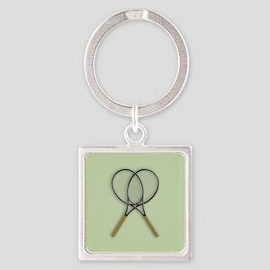 Tennis Racquets Sport Design Keychains