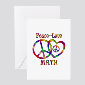 Peace love math greeting cards cafepress peace love math greeting card m4hsunfo Images