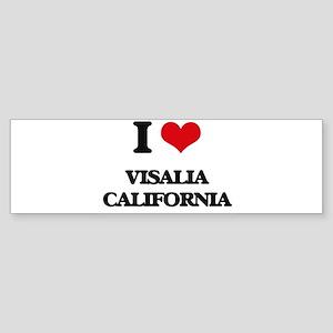 I love Visalia California Bumper Sticker
