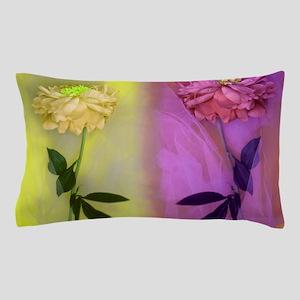 300dpi Flower net Yellow VIOLET 2 toge Pillow Case